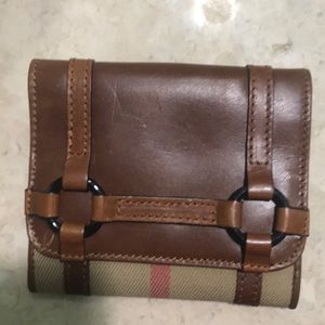 Brand new Burberry flap wallet
